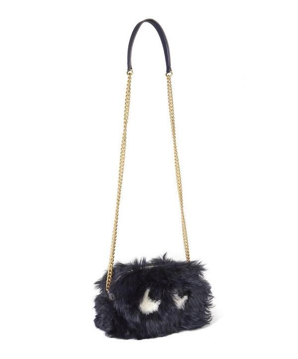 Eyes Mini Shearling Crossbody Bag