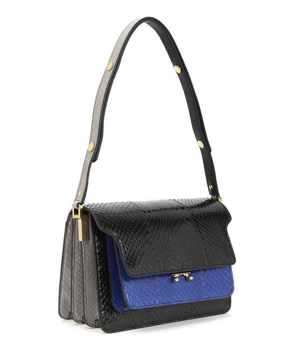 Trunk Python Shoulder Bag