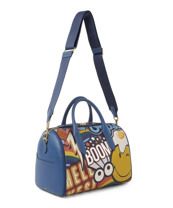 Giant Stickers Vere Barrel Leather Day Bag