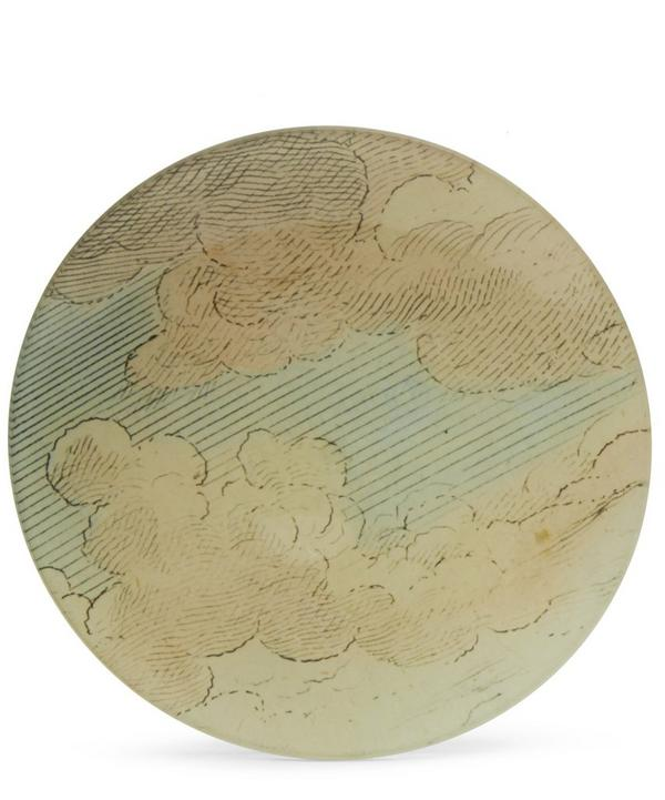 English Horse Cloud Round Plate