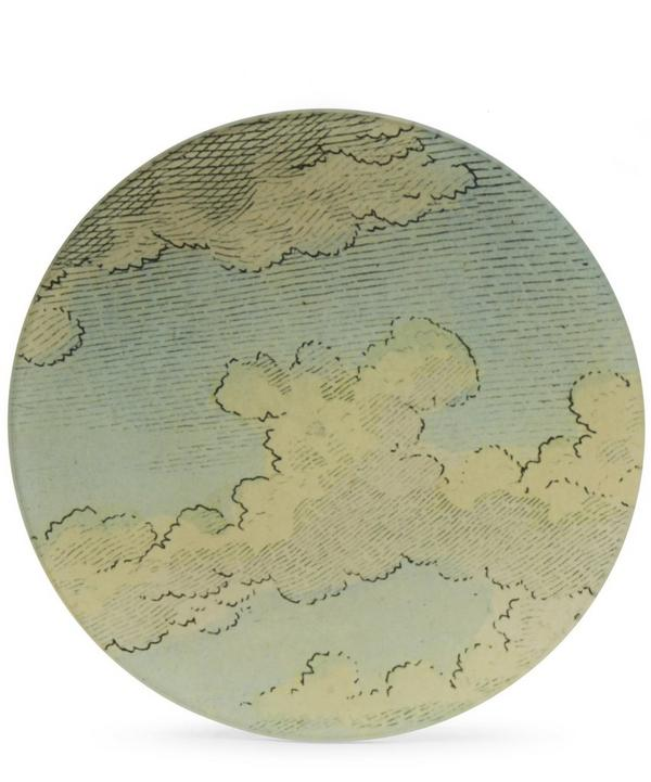 Wolf Cloud Round Plate
