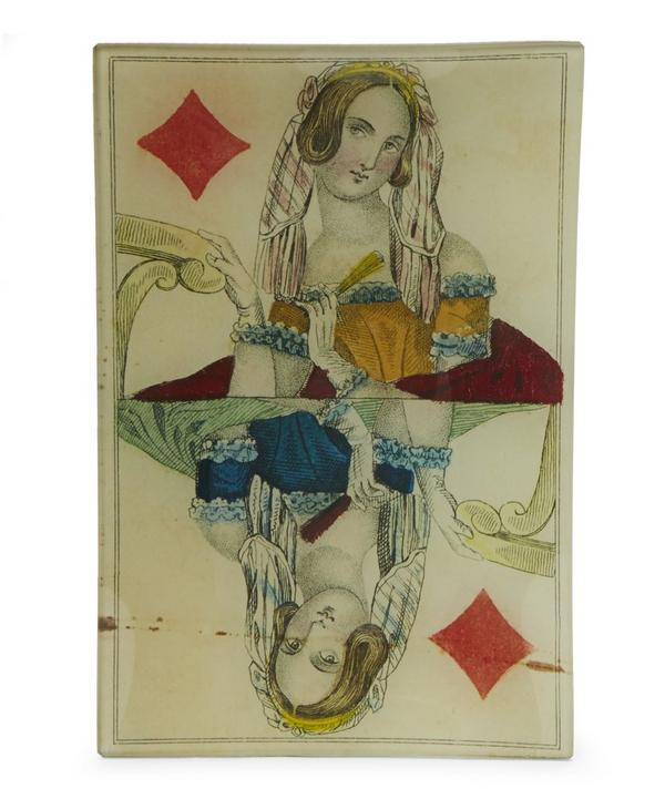 Queen of Diamonds Rectangular Tray