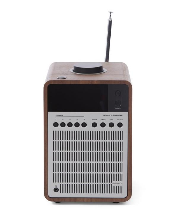 SuperSignal Walnut/Silver Radio