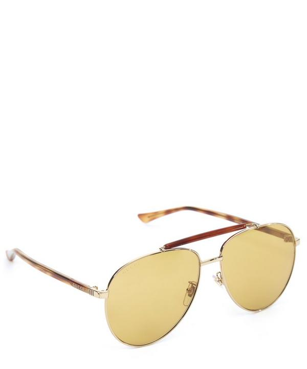 Honey Aviator Sunglasses