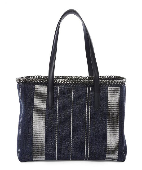 Striped Jacquard Falabella Shopper Bag