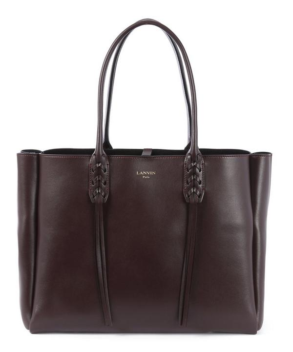 Nela Small Smooth Leather Shopper