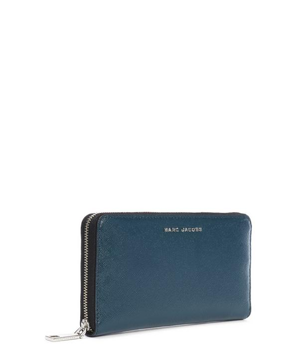 Saffiano Bi-Colour Continental Wallet