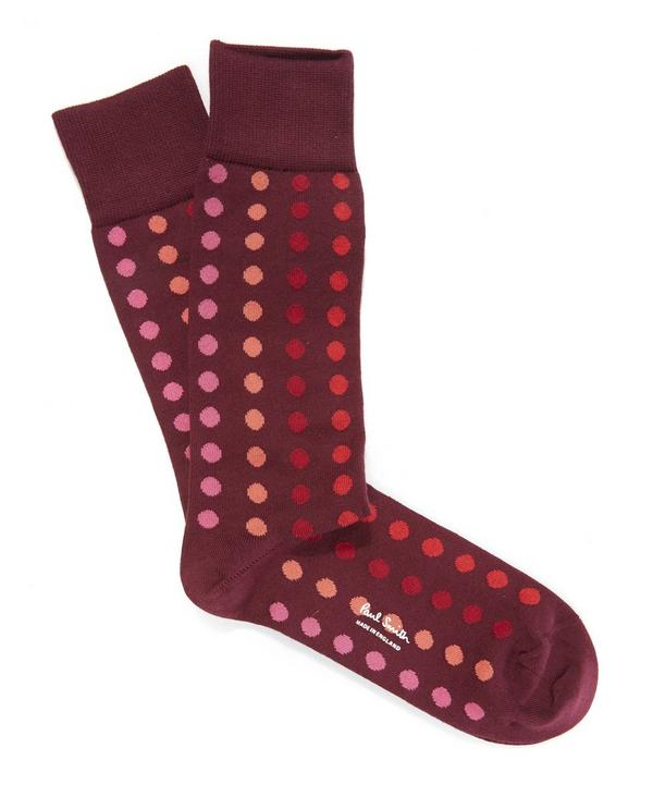 Graduated Polka Dot Socks