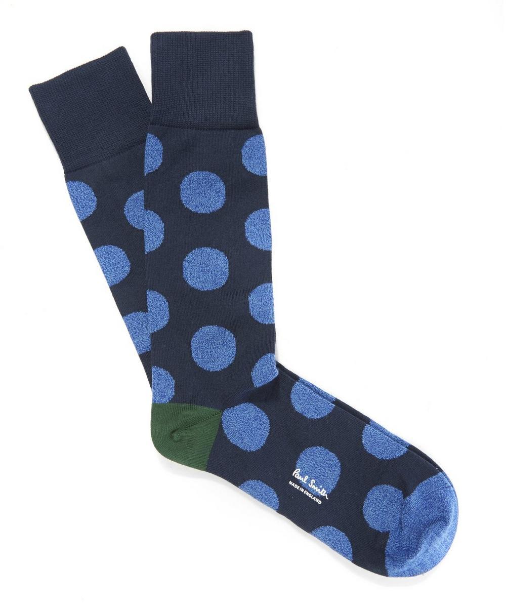 Melange Polka Dot Socks