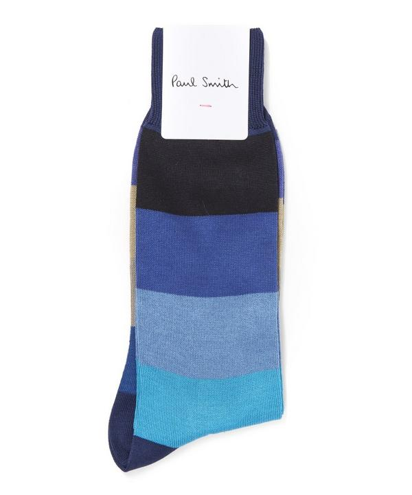 Colour Block Stripe Socks