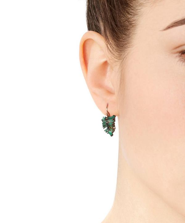Rose Gold Emerald Drop Earrings