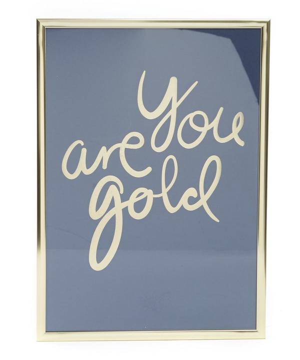 You Are Gold Framed Print