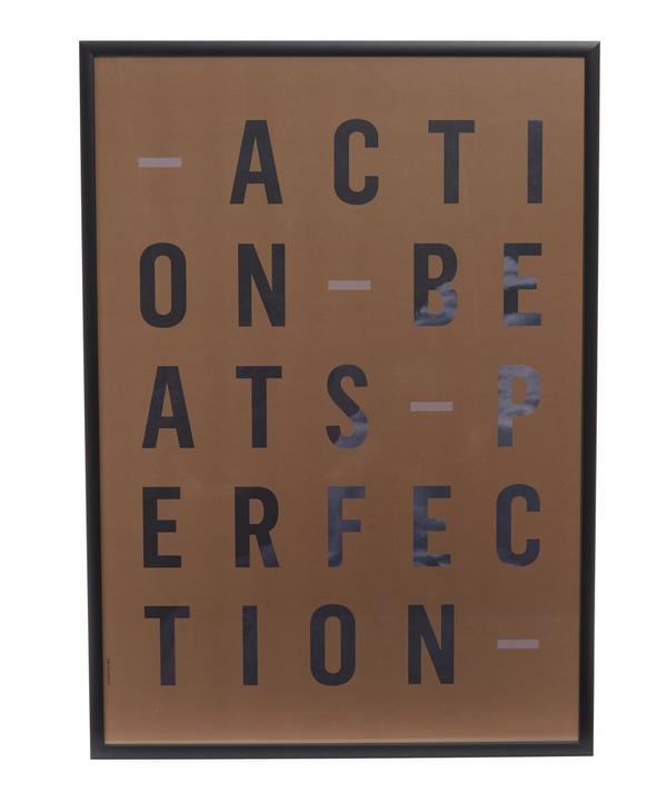 Action Perfection Framed Print