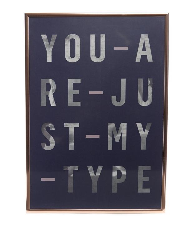 Just My Type Framed Poster
