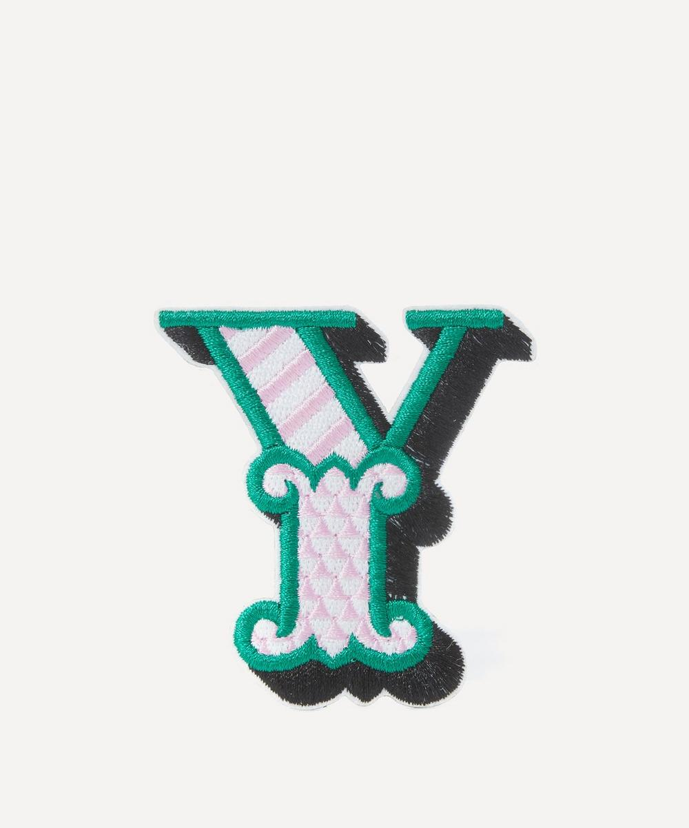 Embroidered Sticker Patch in Y