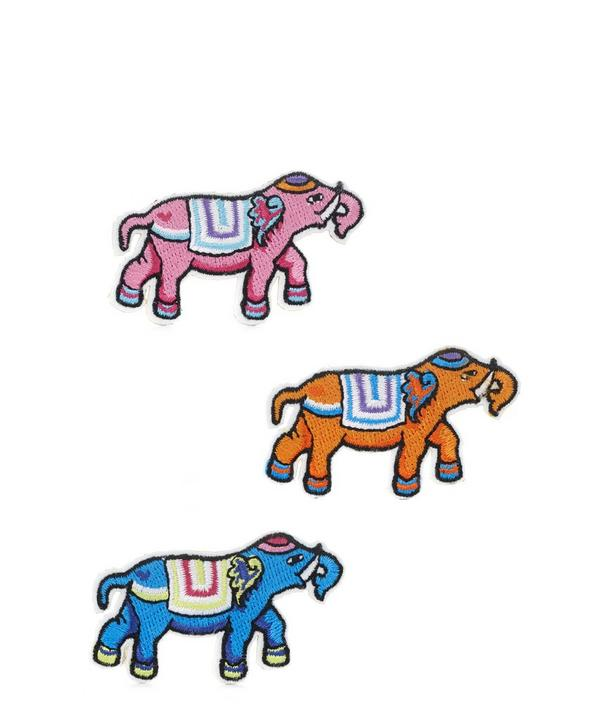 Embroidered Elephants Sticker Patches