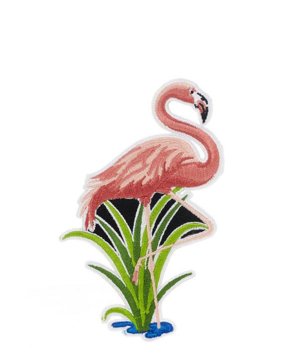 Embroidered Flamingo Sticker Patch