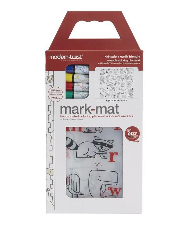 Alphabet Animals Mark Mat Colouring Placemat