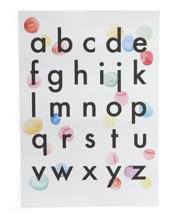 Alphabet Confetti A3 Print