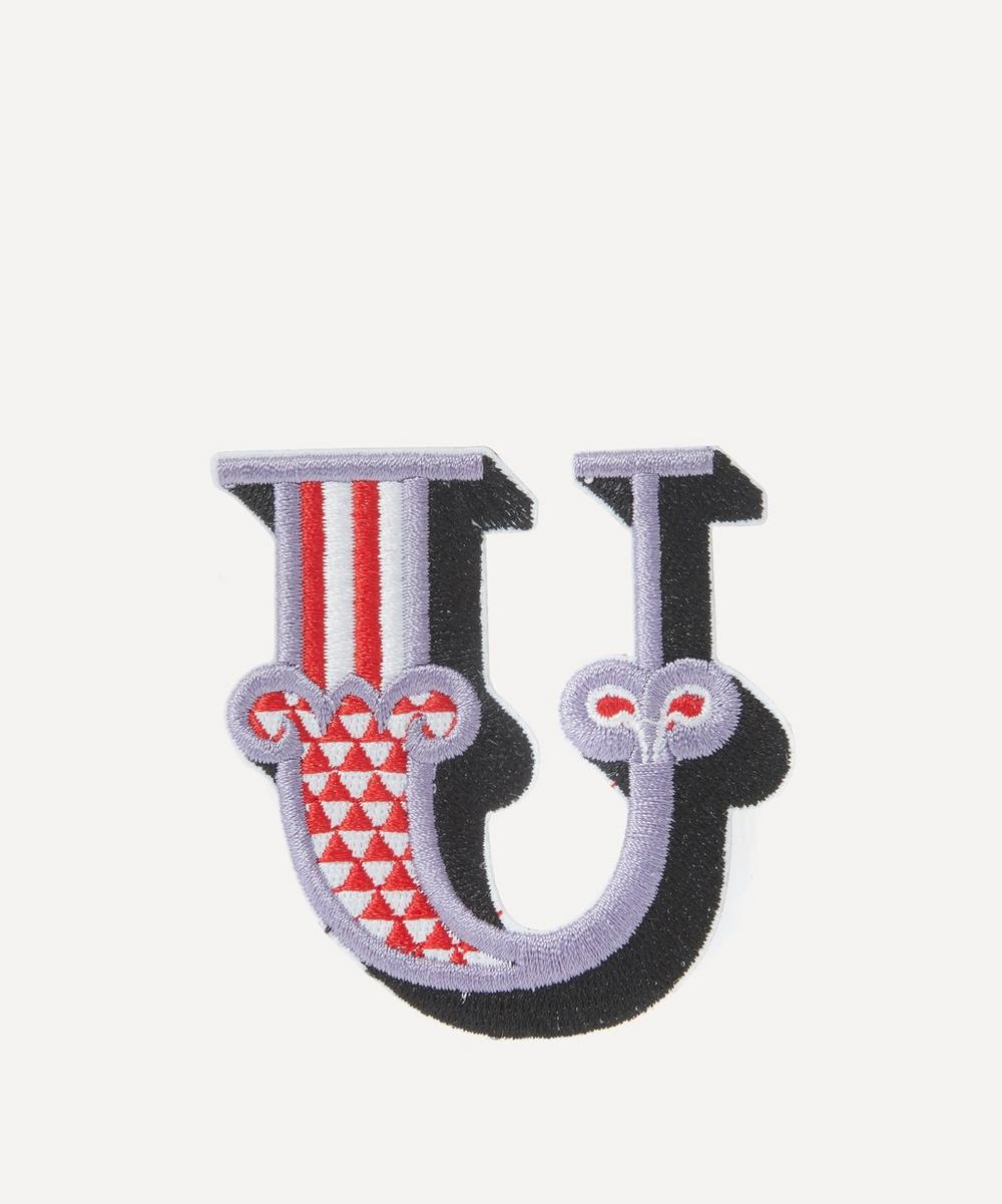 Embroidered Sticker Patch in U