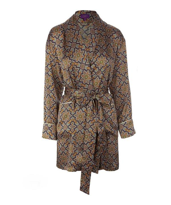 Indiana Short Silk Robe