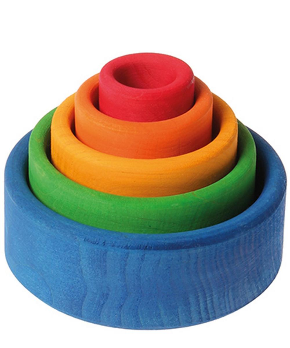 Set of Five Rainbow Bowls