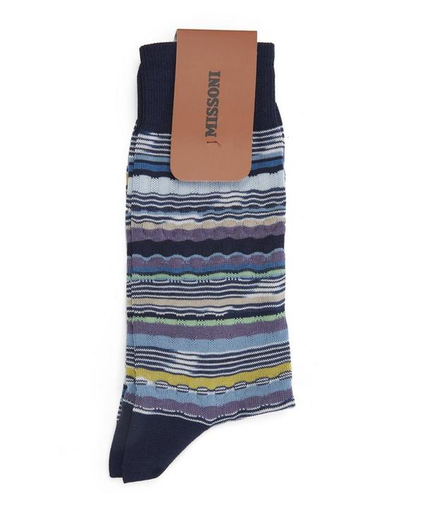 Irregular Multi Stripe Socks