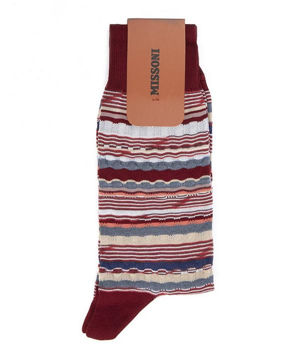 Irregular Multi Stripe Socks