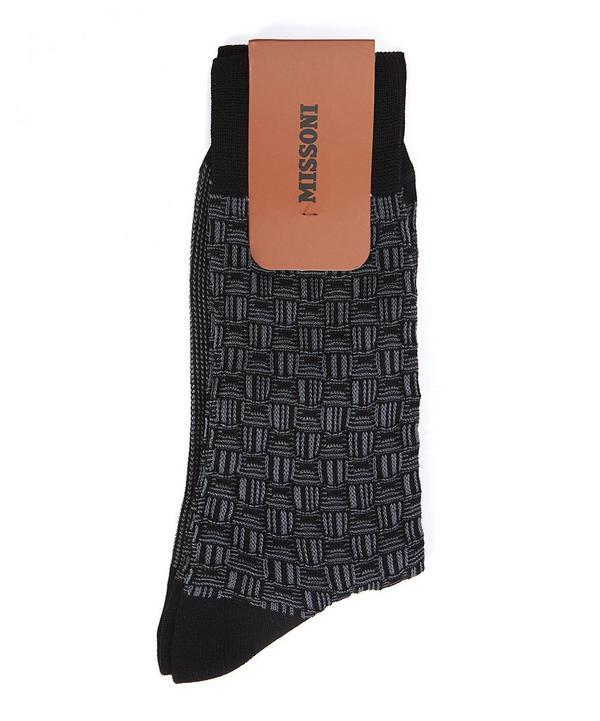 Woven Square Socks