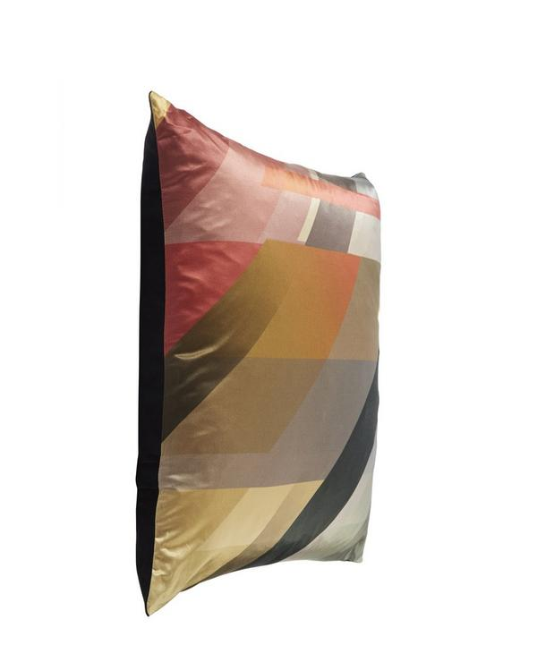 Diagonal Gradient Ochre Cushion