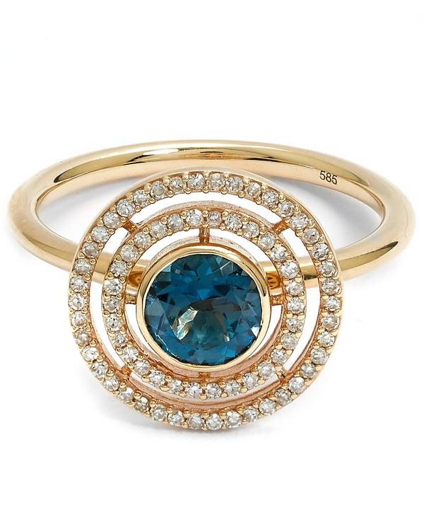 Exclusive London Blue Topaz Icon Aura Ring