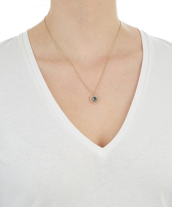 Exclusive London Blue Topaz Icon Aura Pendant Necklace