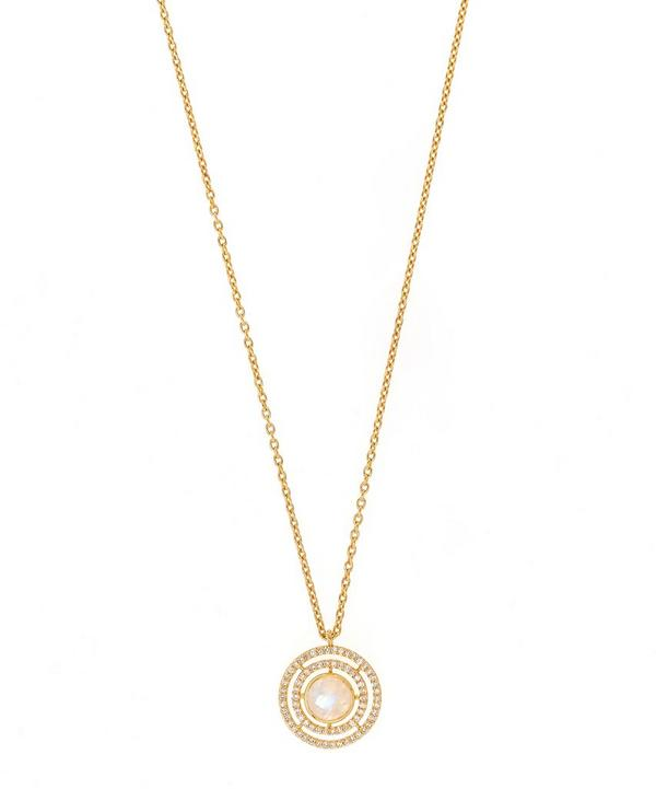Exclusive Moonstone Icon Aura Pendant Necklace
