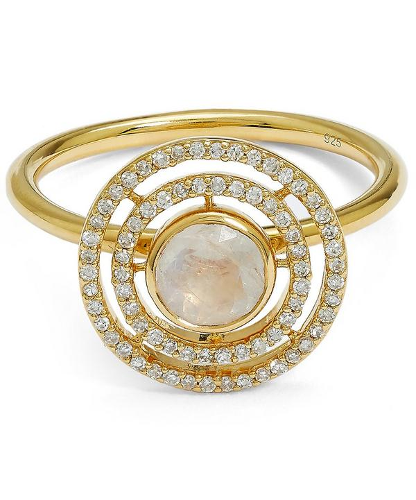 Exclusive Gold Moonstone Icon Aura Ring