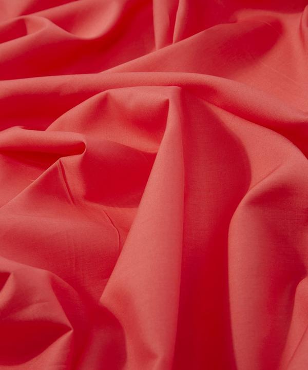 Red Plain Tana Lawn Cotton