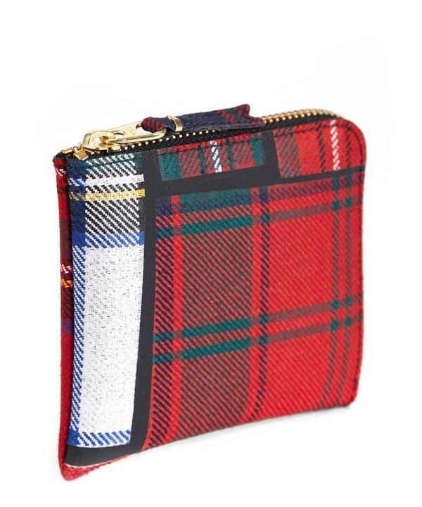 Tartan Half Zip Wallet