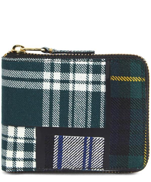 Tartan Vertical Full Zip Wallet