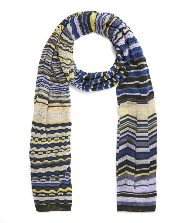 Soft Stripe Wave Scarf