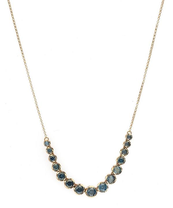 Dusty Diamond Rose Gold Line Necklace