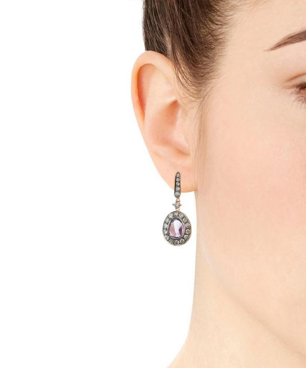 Dusty Diamond Amethyst Earrings