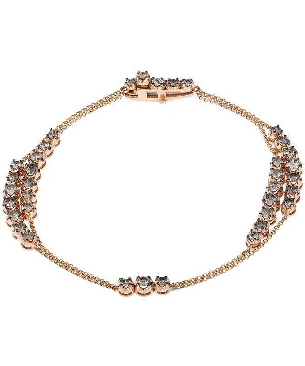 Dusty Diamonds Rose Gold Bracelet
