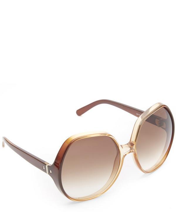Misha Oversized Round Sunglasses