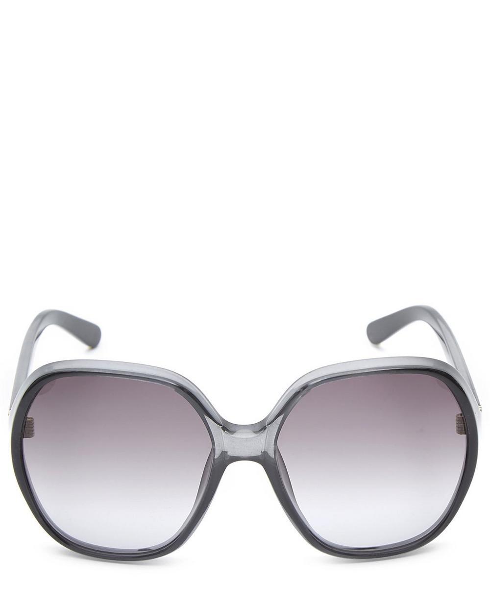 Misha Round Oversized Sunglasses