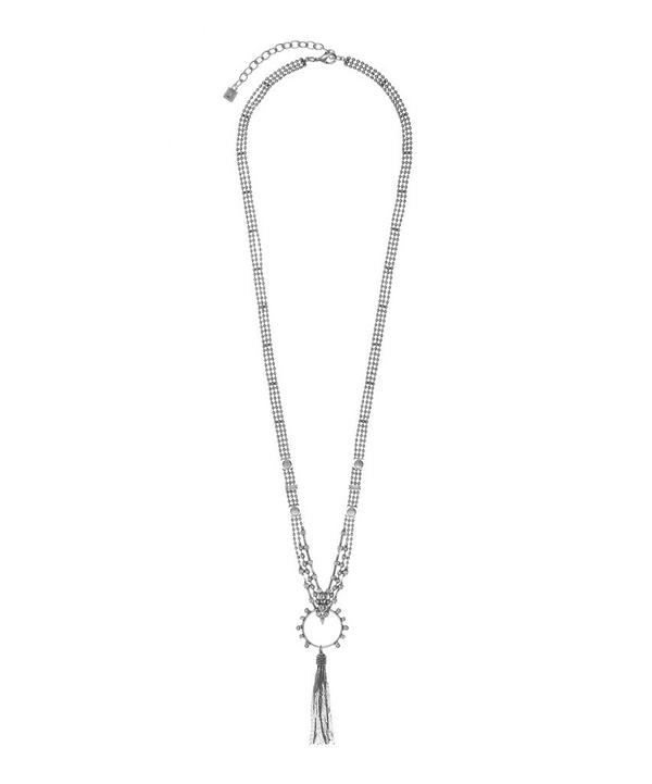 Oxidised Silver-Plated Harper Tassel Necklace