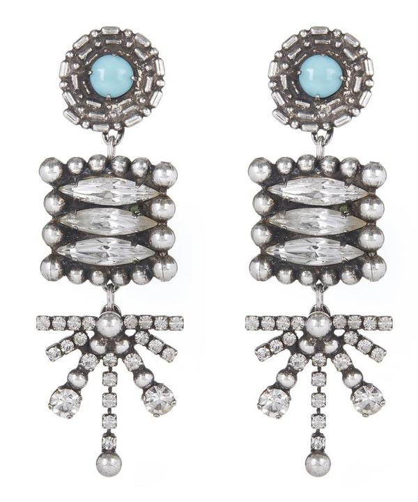 Silver-Plated Pari Long Drop Earrings
