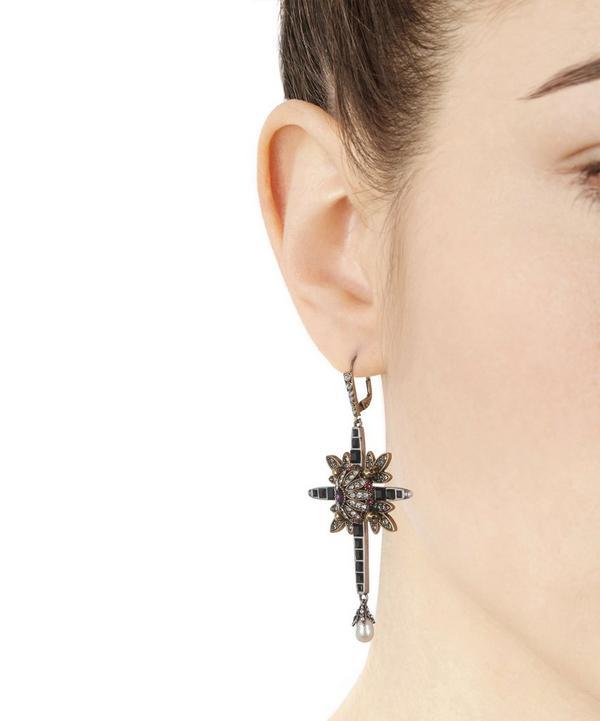 Jewelled Cross Earrings