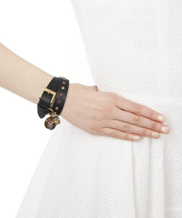 Jewelled Leather Cuff