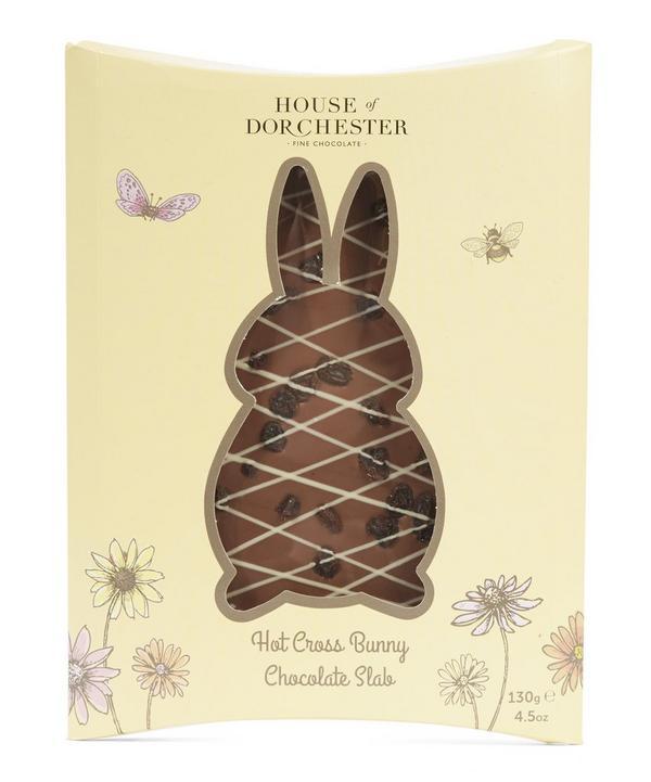 Hot Cross Bunny Chocolate Slab