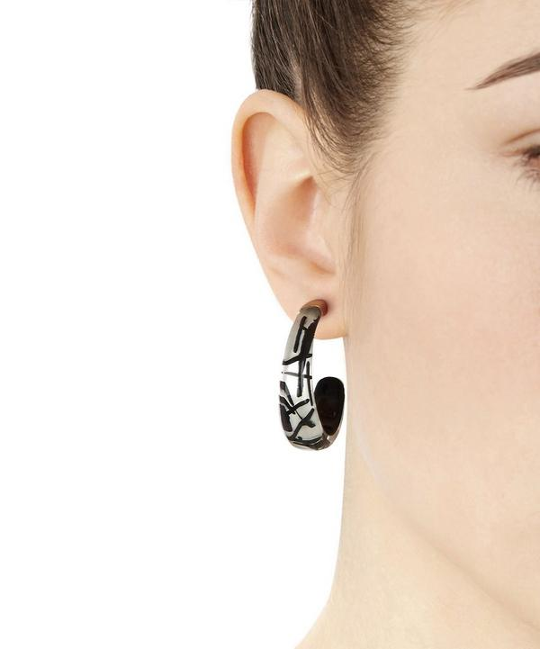 Futurist Graphic Hoop Earrings