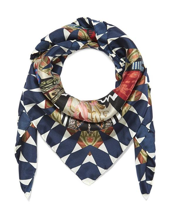 Christian Lacroix Black Love Silk Scarf